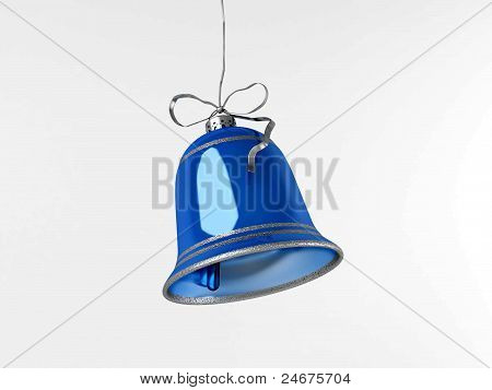 Blue New Year's hand bell