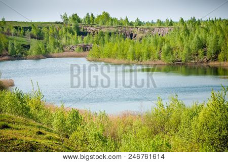 Photo Of Picturesque Hilly Terrain And River In Summer Day