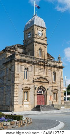 Historic Townhall Of Albany On A Sunny Day, Western Australia