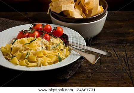 Pasta With Cheese And Rosemary