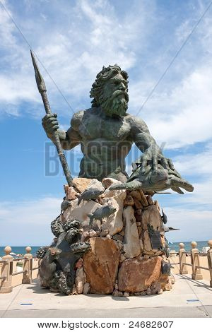 King Neptune Monument In Virginia Beach
