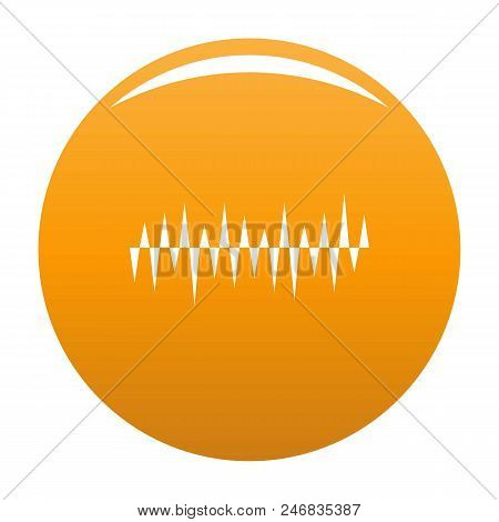 Equalizer Pulse Icon. Simple Illustration Of Equalizer Pulse Vector Icon For Any Design Orange
