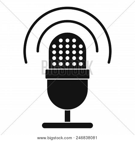 Studio Microphone Icon. Simple Illustration Of Studio Microphone Vector Icon For Web Design Isolated