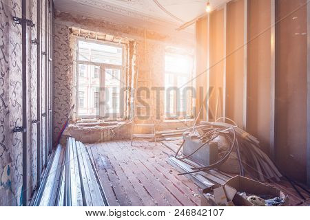 Working Process Of Installing Pvc Windows And Metal Frames For Plasterboard - Drywall And Constructi