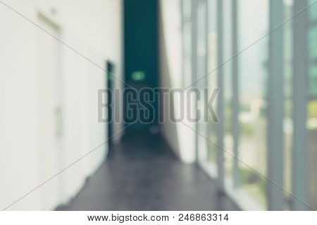 Blur Background,corridor In Convention Hall, Office Building Hall Way Background