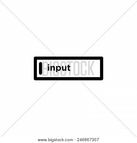 Input Vector Icon On White Background. Input Modern Icon For Graphic And Web Design. Input Icon Sign