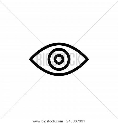 Eye View Vector Icon On White Background. Eye View Modern Icon For Graphic And Web Design. Eye View