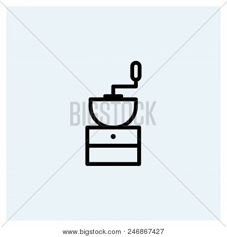 Coffee Grinder Icon Vector Icon On White Background. Coffee Grinder Icon Modern Icon For Graphic And