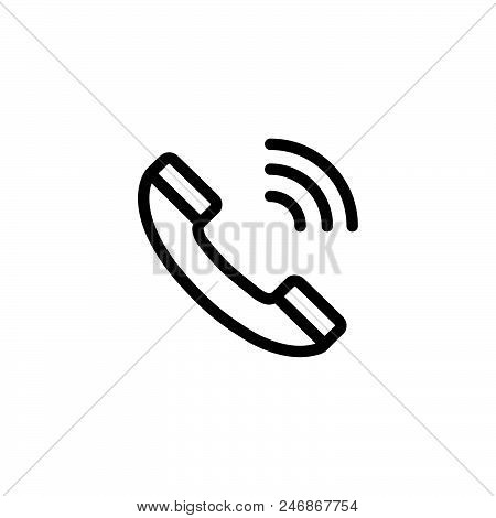 Phone Call Vector Icon On White Background. Phone Call Modern Icon For Graphic And Web Design. Phone
