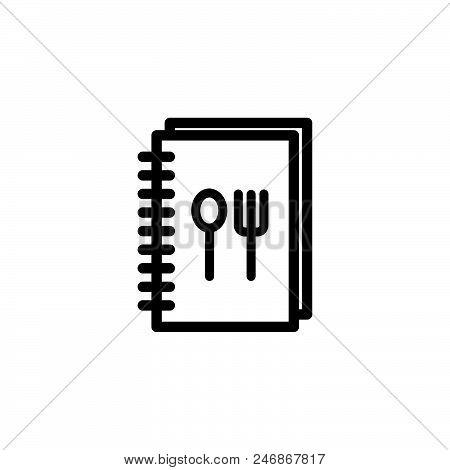 Recipe Book Vector Icon On White Background. Recipe Book Modern Icon For Graphic And Web Design. Rec