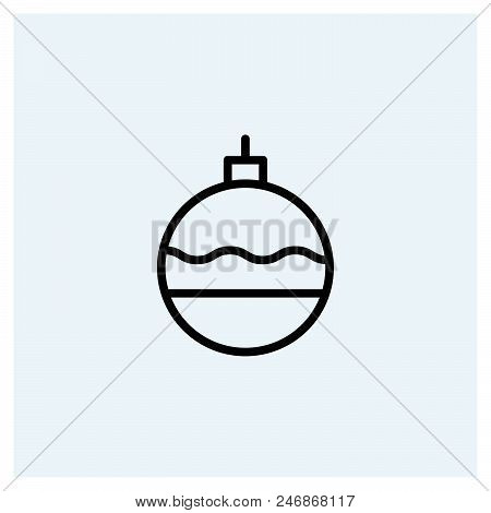 Bauble Ball Icon Vector Icon On White Background. Bauble Ball Icon Modern Icon For Graphic And Web D