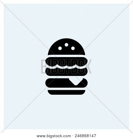 Hamburger Icon Vector Icon On White Background. Hamburger Icon Modern Icon For Graphic And Web Desig