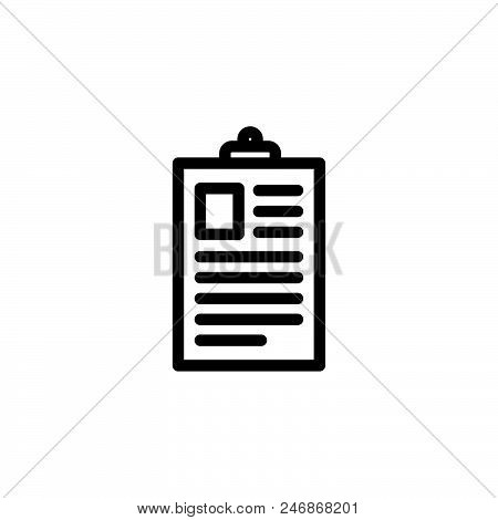 Announcement Board Vector Icon On White Background. Announcement Board Modern Icon For Graphic And W