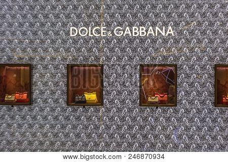 Bangkok, Thailand - January 07, 2014 : Dolce Gabbana Store In Siam Paragon Mall In Bangkok, Thailand