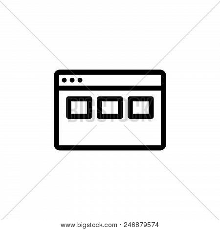 Web Grid Vector Icon On White Background. Web Grid Modern Icon For Graphic And Web Design. Web Grid