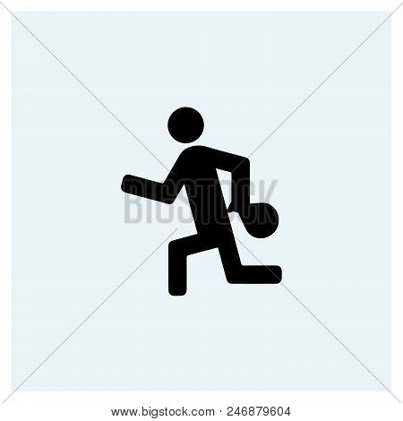 Burglar Icon Vector Icon On White Background. Burglar Icon Modern Icon For Graphic And Web Design. B