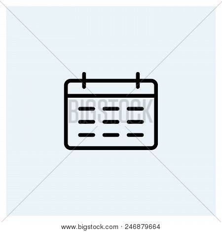 Calendar Icon Vector Icon On White Background. Calendar Icon Modern Icon For Graphic And Web Design.