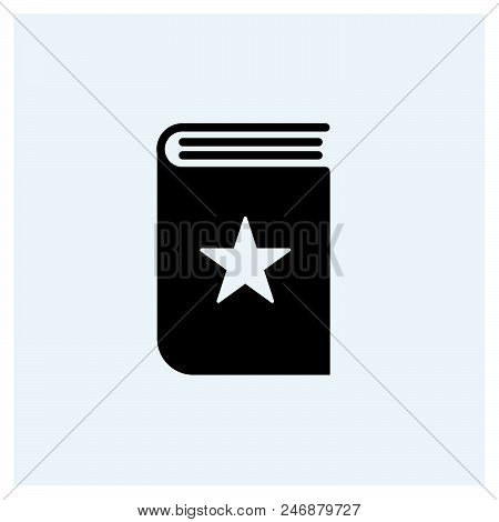 Favorite Book Icon Vector Icon On White Background. Favorite Book Icon Modern Icon For Graphic And W