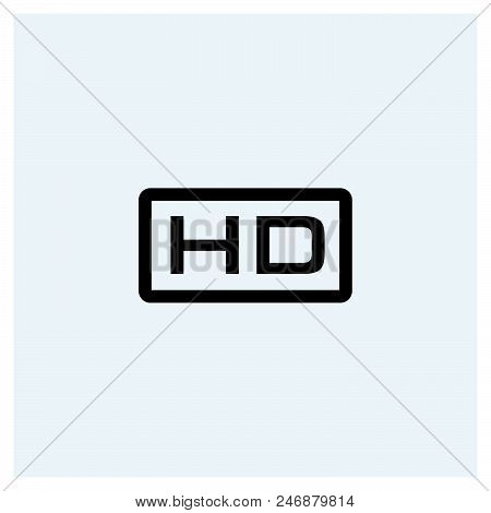 Hd Icon Vector Icon On White Background. Hd Icon Modern Icon For Graphic And Web Design. Hd Icon Ico