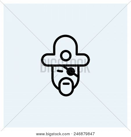 Pirate Icon Vector Icon On White Background. Pirate Icon Modern Icon For Graphic And Web Design. Pir