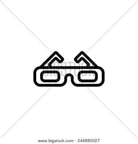 3d Cinema Vector Icon On White Background. 3d Cinema Modern Icon For Graphic And Web Design. 3d Cine