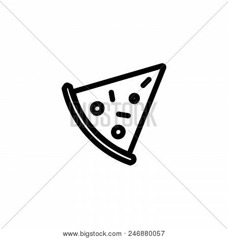 Pizza Vector Icon On White Background. Pizza Modern Icon For Graphic And Web Design. Pizza Icon Sign