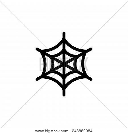 Spide Web Vector Icon On White Background. Spide Web Modern Icon For Graphic And Web Design. Spide W