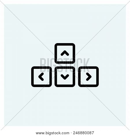Keyboard Icon Vector Icon On White Background. Keyboard Icon Modern Icon For Graphic And Web Design.