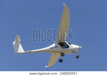 Lethbridge, Australia - November 23, 2014: Pipistrel Sinus Ultralight Aircraft Vh-yad.