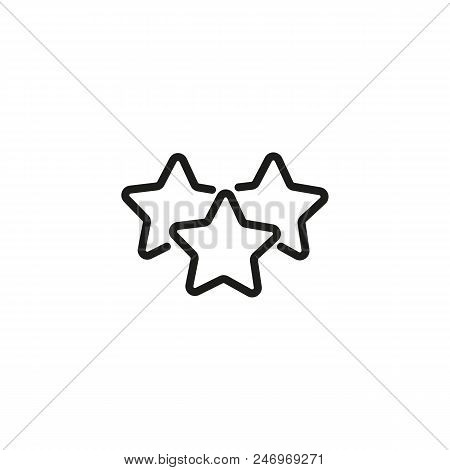 Best Offer Line Icon Three Stars Price Promotion Concept Vector Ilration Can Be Used For Topics Like Ping Special Rating