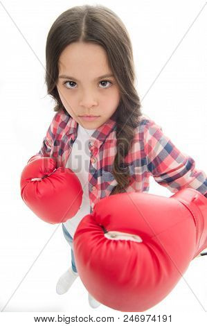 That Is What I Think. Girls Power. Every Kid Should Know How Defend Own Point Of View. Girl Seriousl