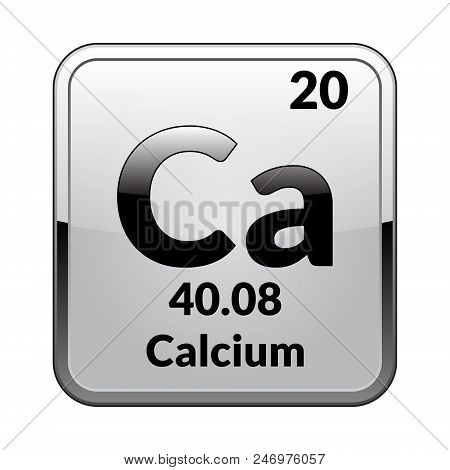 Calcium symbol vector photo free trial bigstock calcium symbolemical element of the periodic table on a glossy white background in a urtaz Gallery