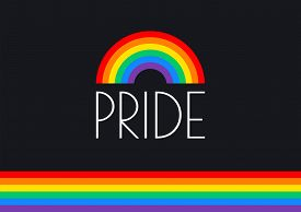 Pride Month Rainbow Flag Typography With Pride Rainbow - Vector Illustration For Pride Month Event C