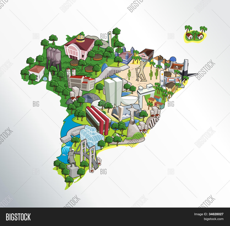 Map Brazil All Vector & Photo (Free Trial) | Bigstock