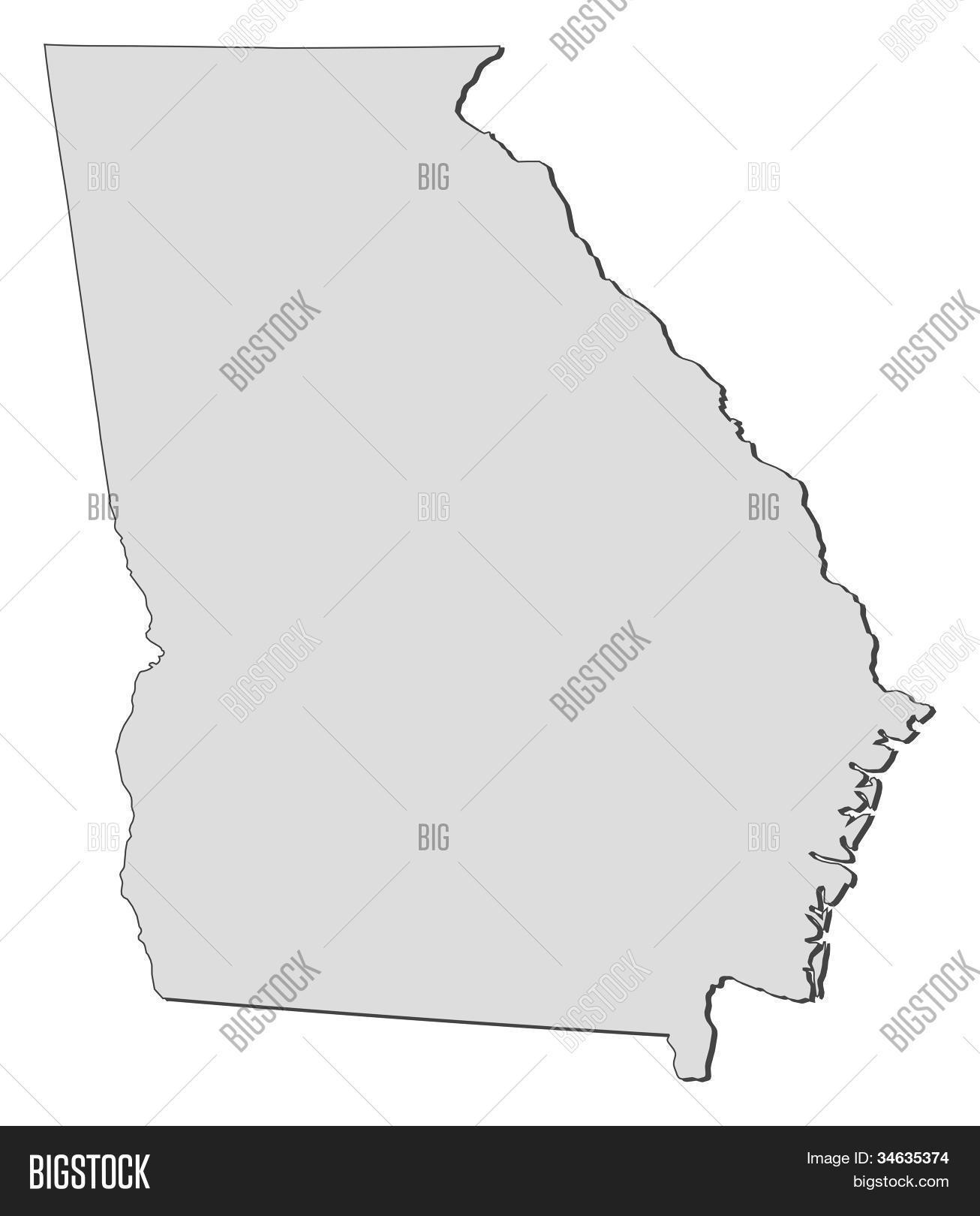 Map Of Georgia United States.Map Georgia United Image Photo Free Trial Bigstock
