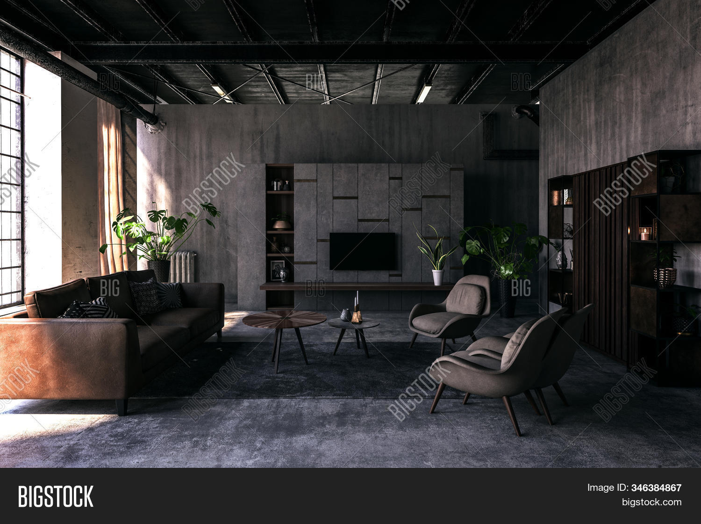 Spacious Living Room Image Photo Free Trial Bigstock