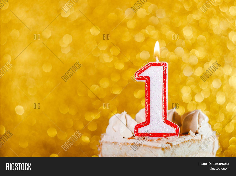 Astonishing Candle Number One On Image Photo Free Trial Bigstock Personalised Birthday Cards Petedlily Jamesorg