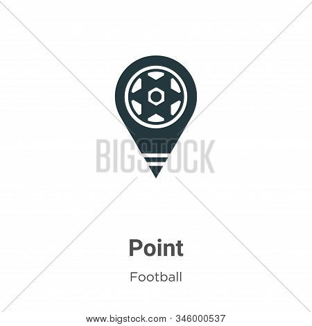 Point icon isolated on white background from football collection. Point icon trendy and modern Point
