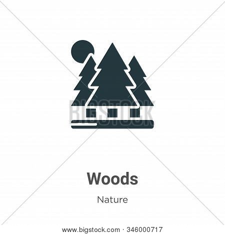 Woods icon isolated on white background from nature collection. Woods icon trendy and modern Woods s