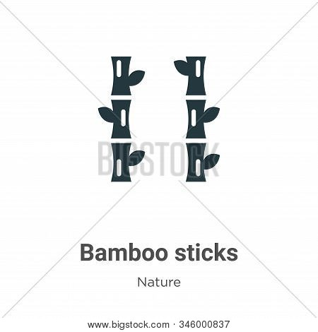 Bamboo sticks icon isolated on white background from nature collection. Bamboo sticks icon trendy an