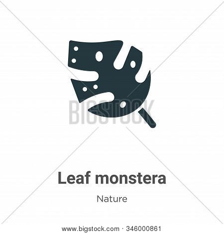 Leaf monstera icon isolated on white background from nature collection. Leaf monstera icon trendy an