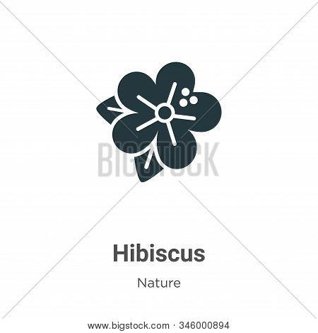 Hibiscus Vector Icon On White Background. Flat Vector Hibiscus Icon Symbol Sign From Modern Nature C