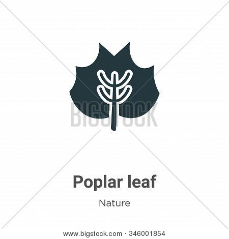 Poplar Leaf Vector Icon On White Background. Flat Vector Poplar Leaf Icon Symbol Sign From Modern Na