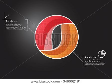 Circle Infographic Vector Template Consists Of Two Parts