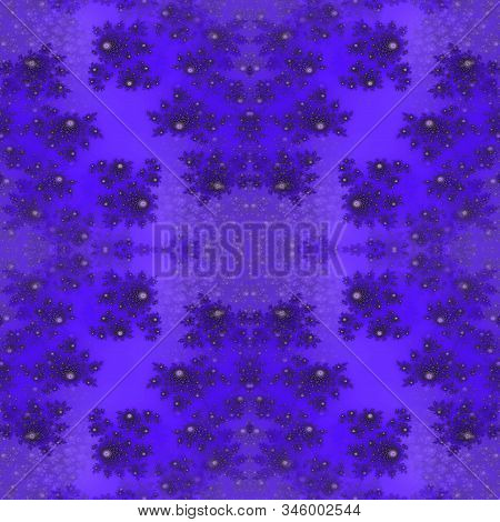 Violet Purple Abstract Flowery Floral Symmetry Pattern Design Background