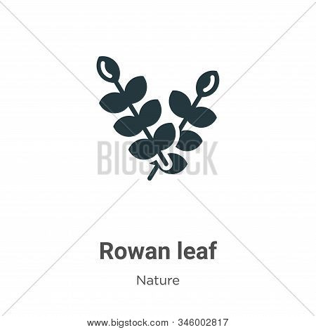 Rowan leaf icon isolated on white background from nature collection. Rowan leaf icon trendy and mode