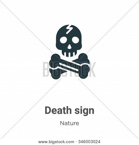 Death sign icon isolated on white background from nature collection. Death sign icon trendy and mode