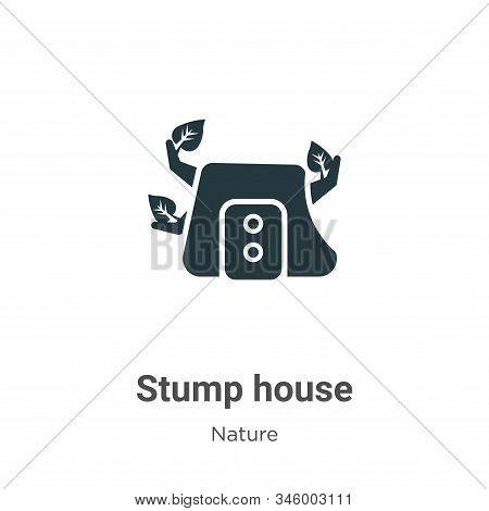 Stump house icon isolated on white background from nature collection. Stump house icon trendy and mo