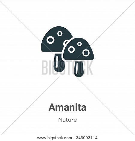 Amanita Vector Icon On White Background. Flat Vector Amanita Icon Symbol Sign From Modern Nature Col