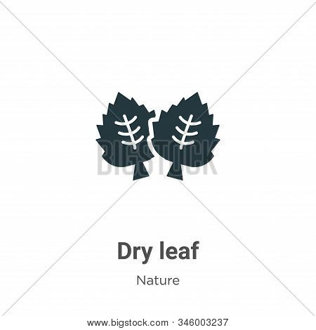 Dry leaf icon isolated on white background from nature collection. Dry leaf icon trendy and modern D